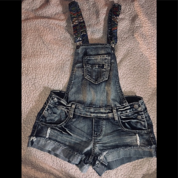 hippie laundry Denim - HIPPIE LAUNDRY DENIM VANILLA STAR OVERALL SHORTS
